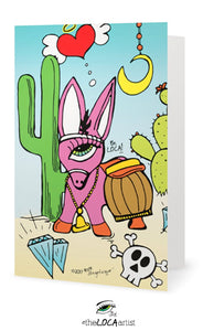 Lost Pink DonkEYE | EYEconic Art Cards by Angelicque'