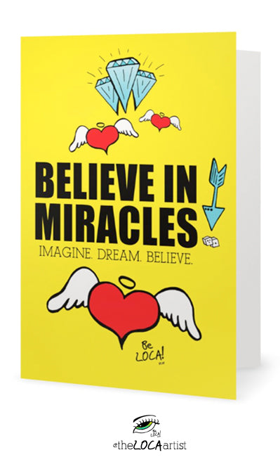 Believe in Miracles | Mystical Pop Art Cards by Angelicque'