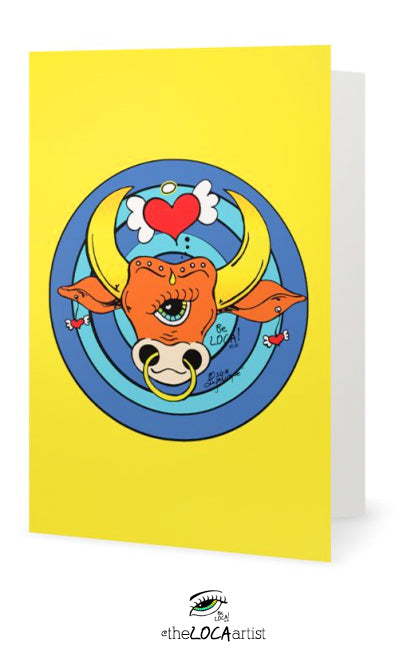 The Golden BullsEye | Art Cards by Angelicque'