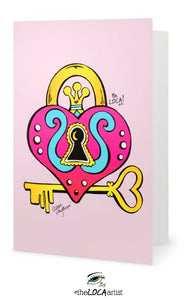 Key to your heART | Mystical Pop Art Cards by Angelicque'