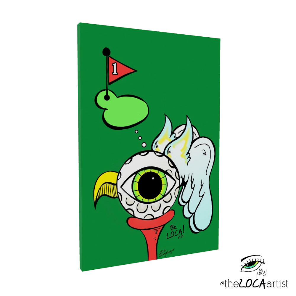 The BirdEYE ⛳ by Angelicque' | Gallery Canvas Print