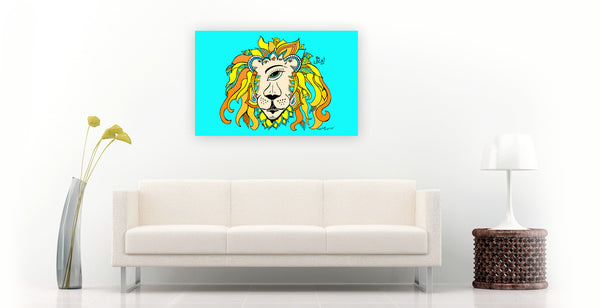 Leo The RastafarEYE Lion be Angelicque' | Gallery Canvas Print