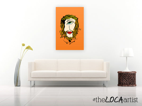 Mystical Mind's Eye Jesus by Angelicque' | Orange | Gallery Canvas Print
