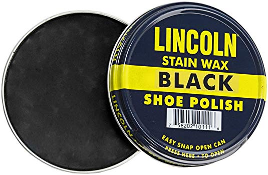 Black Shoe Polish - Lincoln Stain Wax