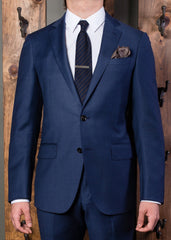 Navy 2 piece classic suit-Bykowski Tailor & Garb high armholes tailored fit slim fit Wool Made in USA hand crafted Gatsby Classic Dapper