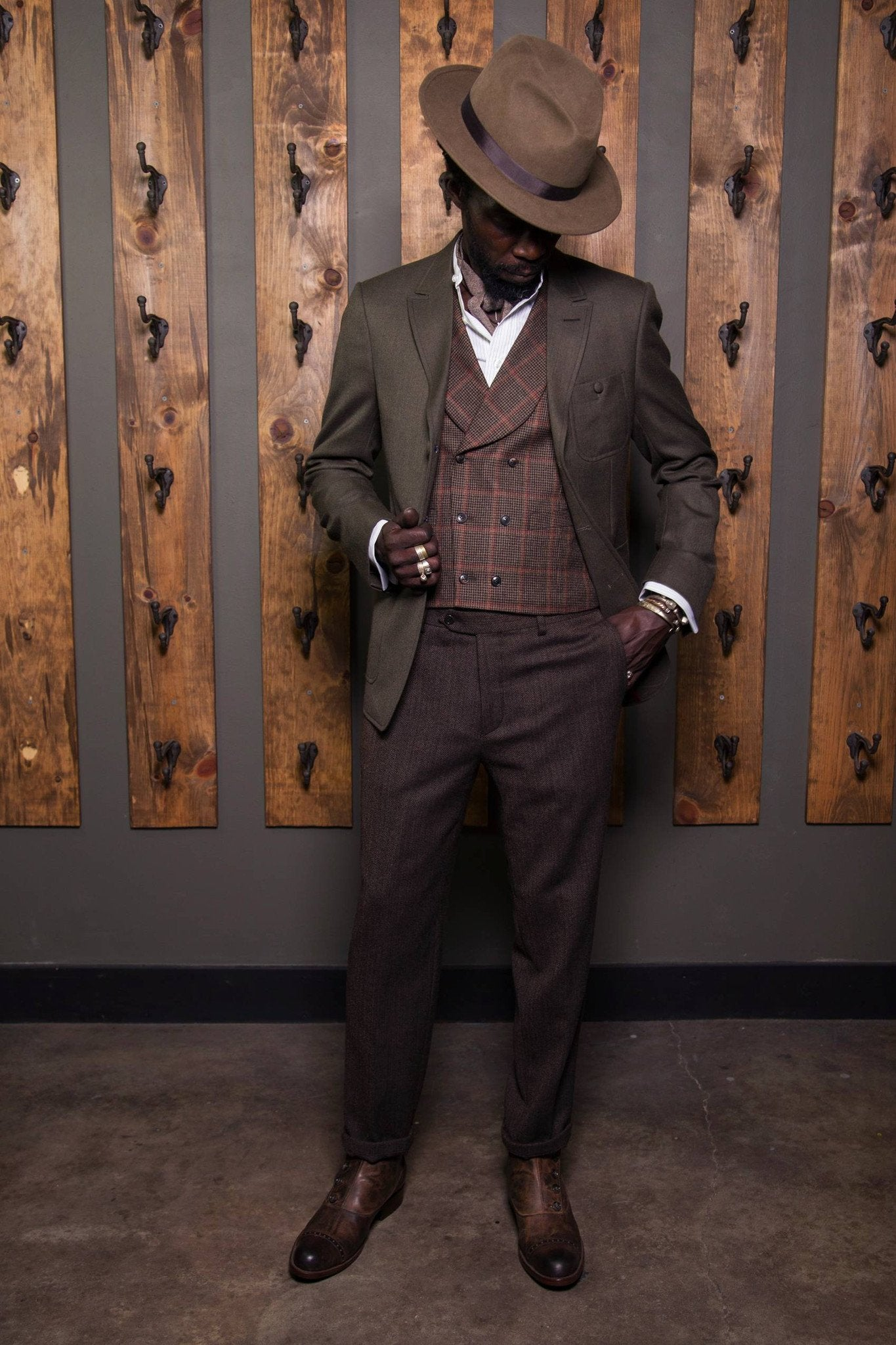 tailored fit slim fit Victorian heritage clothing peaky blinders Edwardian double breasted waistcoat Dapper Barbershop 6 button 1930's 1920's 1910's 1800's Wool vintage inspired Vest Rustic Made in USA Handcrafted