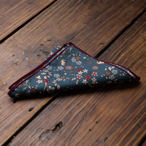 Dark Floral Pocket Square