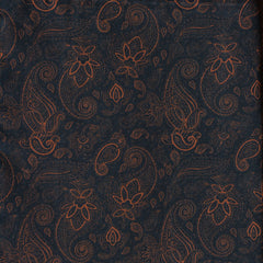 Navy Rust Paisley Pocket Square