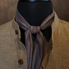 Grey Wine Stripe  Cravat