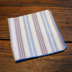 White with Blue and Red Stripes