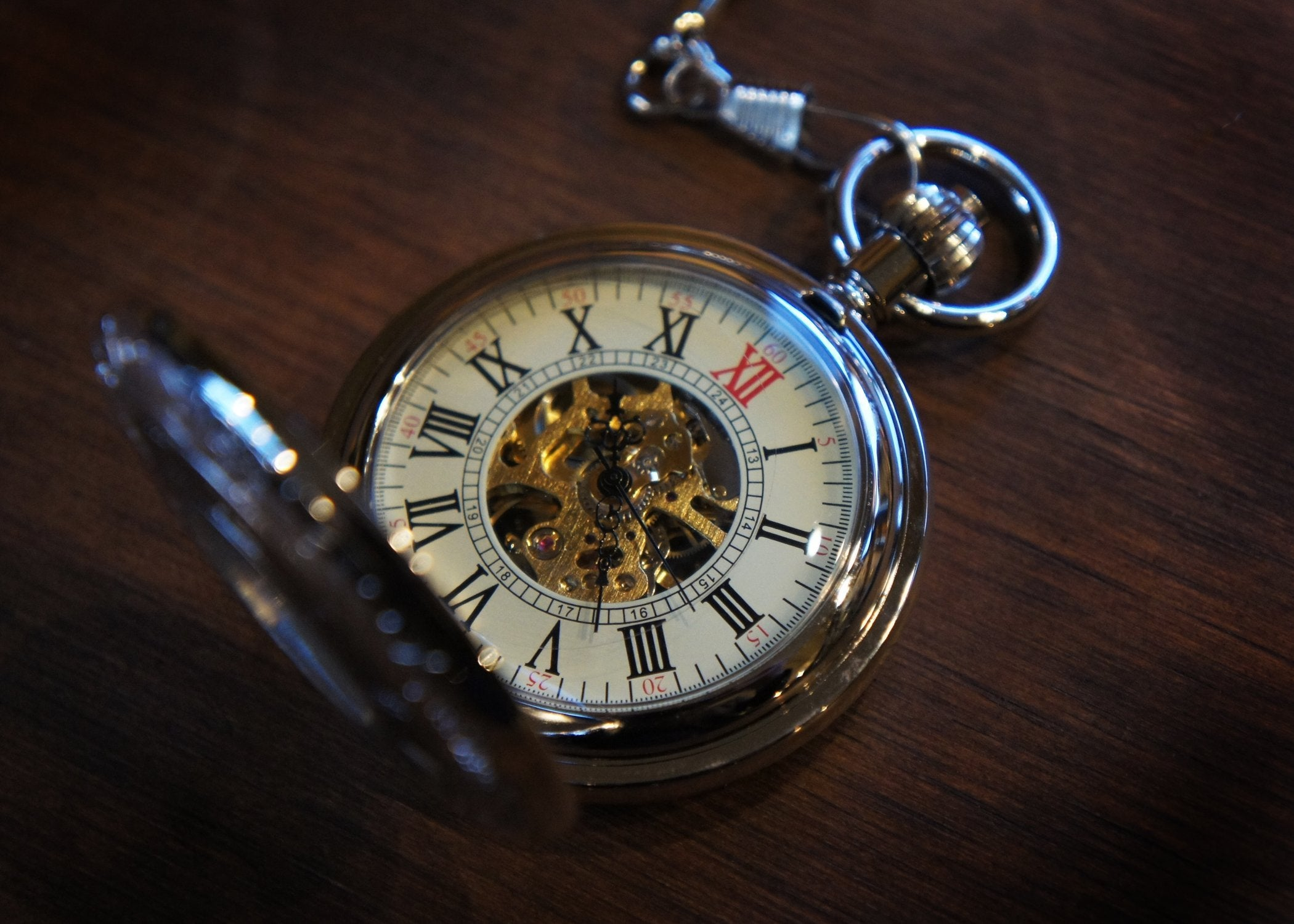 silver window skeleton pocket watch bykowski tailor garb