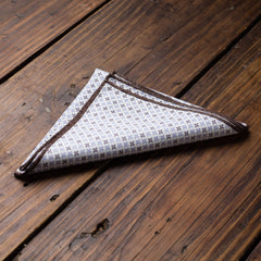 Blue Brown  Star Seed Pocket Square