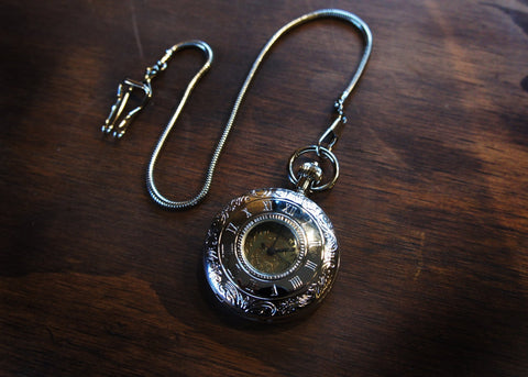 Silver Window Pocket Watch