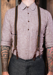 Brown and Navy Suspenders