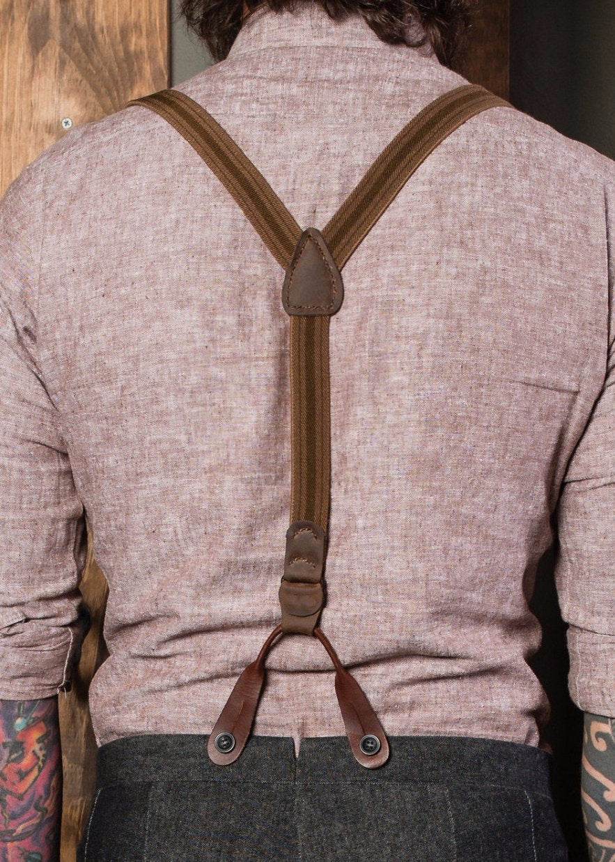 Brown and Tan Suspenders