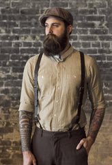 Brown Leather Suspenders