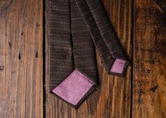 Brown Stripe Necktie