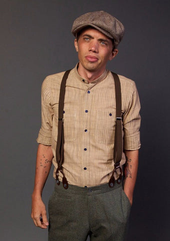 Brown suspenders - Bykowski Tailor & Garb