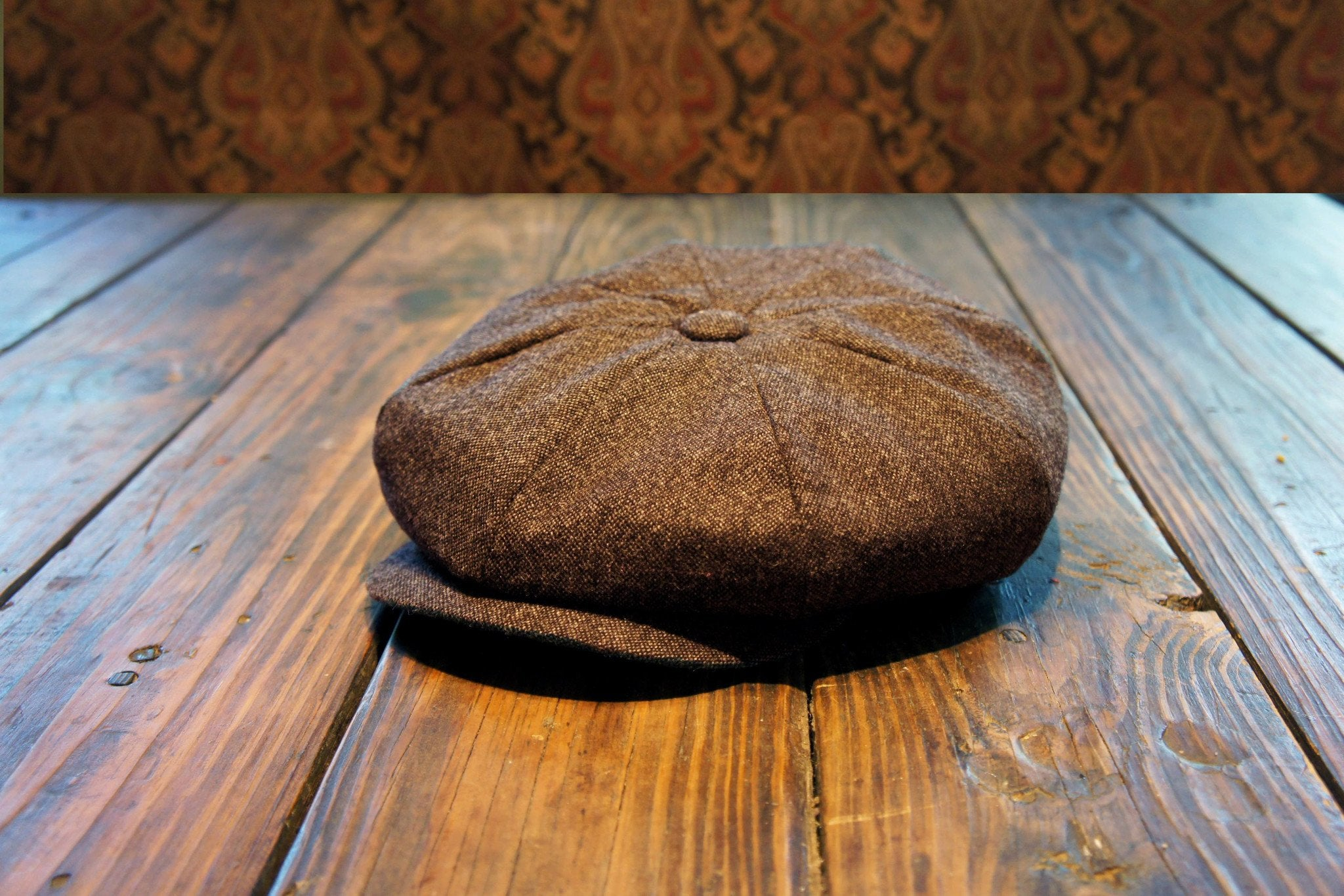 Bykowski Tailor & Garb's own 8-Panel English Tweed cap comes in two colors: Charcoal & Brown. Handcrafted by our team here in Austin, TX.