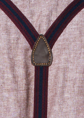 Burgundy and Navy Suspenders