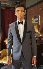 Classic Shawl Tuxedo - Bykowski Tailor & Garb vintage inspired tailored fit 1920's Made in USA Handcrafted Gatsby Classic Dapper