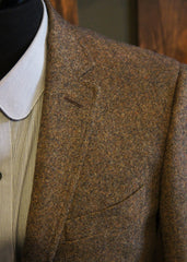 Classic Tweed Suit-Bykowski Tailor & Garb Wool vintage inspired slim fit prohibition peaky blinders Made in USA high armholes heritage clothing Handcrafted Gatsby English Tweed Edwardian Dapper Classic brown 1930's 1920's 1910's