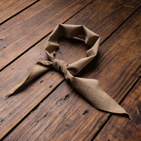 Tan  Vintage Stripe  Cravat