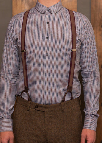 Detachable Collar shirt-Bykowski Tailor & Garb hand crafted Railroad Barbershop 1800's peaky blinders Victorian Gatsby Dapper slim fit 1930's tailored fit heritage clothing prohibition 1920's 1910's Rustic vintage inspired Edwardian Cotton Made in USA Handcrafted