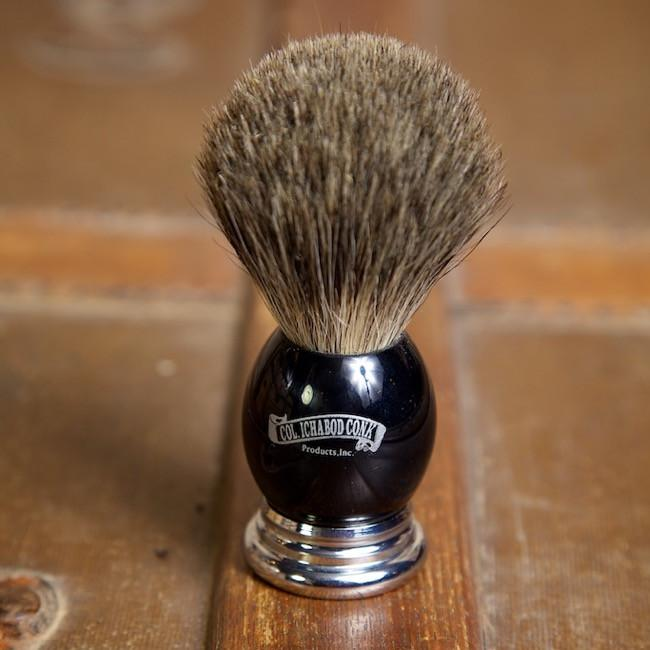 Ebony Metal Shave Brush - Bykowski Tailor & Garb