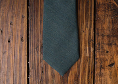 Forest Green Linen Necktie