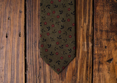 Hunter Green Floral Necktie