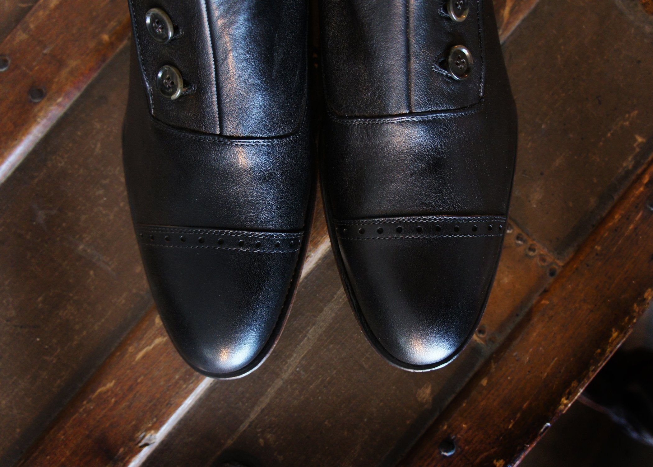 Merganser Button Boot Black ( made to order only)