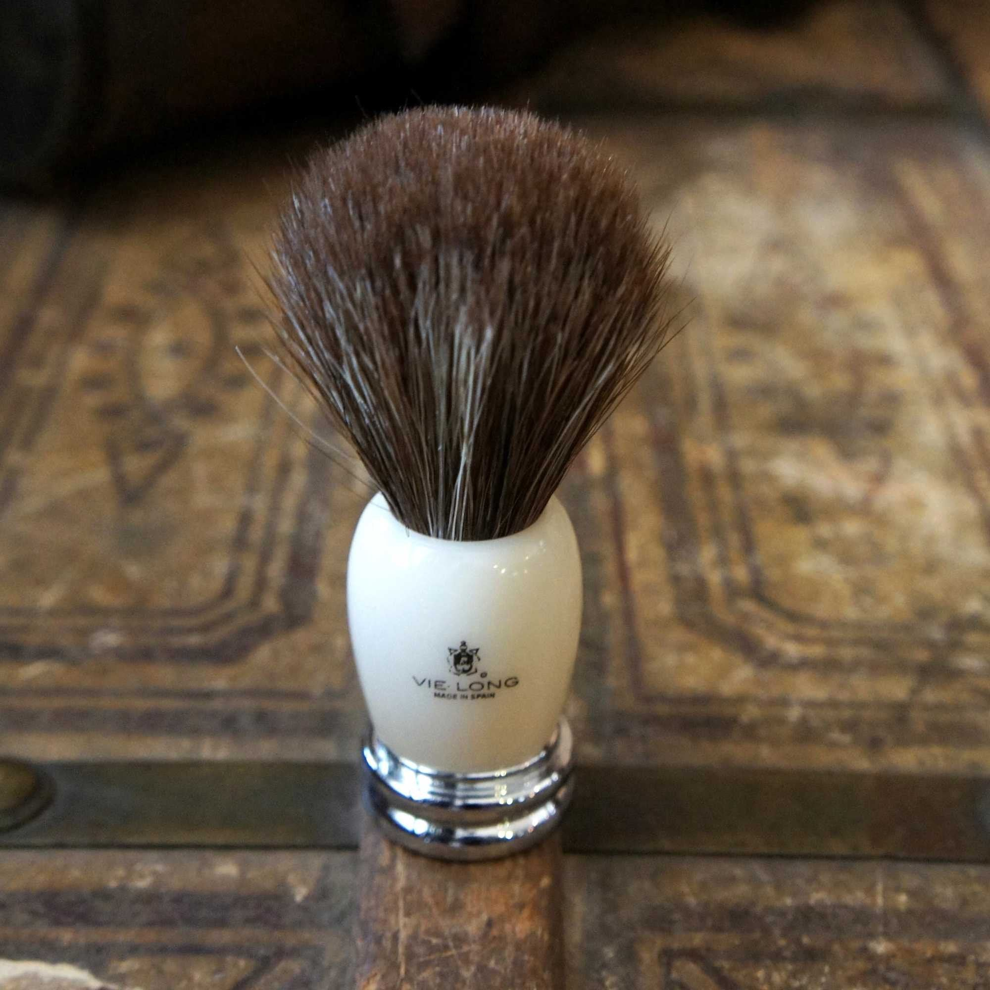 Metal Ivory Shave Brush