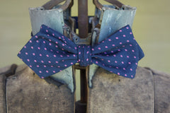Navy Pink Diamonds Bowtie