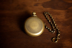 Brass Open Face Gear Pocket Watch