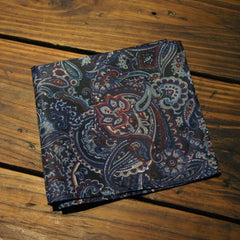 Purple Burgundy Paisley Pocket Square