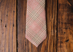 Salmon Check Necktie