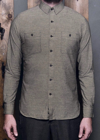 Stripe Workshirt - Grey