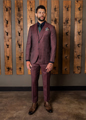 Violet Classic Peak Slant Pocket Suit