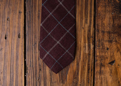 Wine Check Necktie
