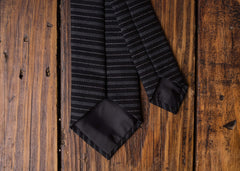 Black Grey Stripe Necktie
