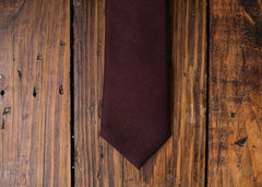 Wool Wine Necktie