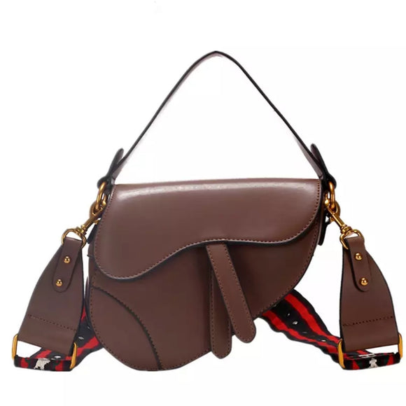 Kelly Brown Saddle Bag