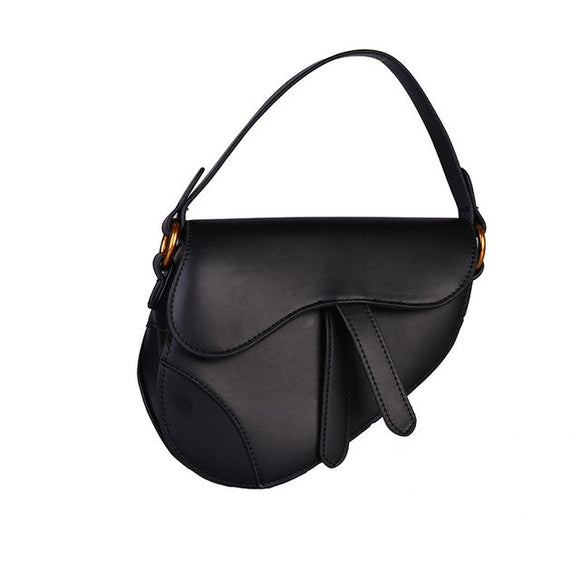 Kelly Saddle Matte Black Bag