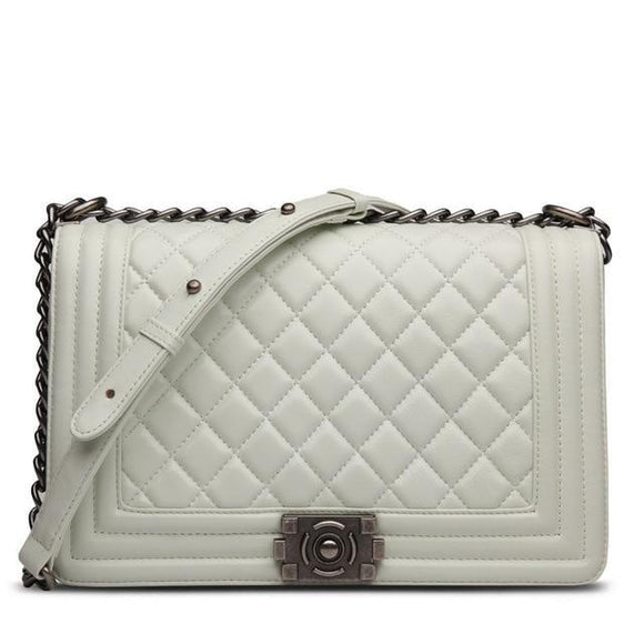 Demi Quilted Bag White