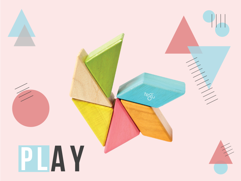 Play at Toy Store and More with tegu blocks