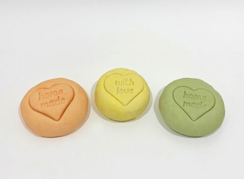 play dough with natural citrus colours and fragrances