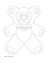 teddy bear colouring page