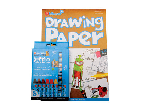 Micador Drawing Paper and Softies Crayons
