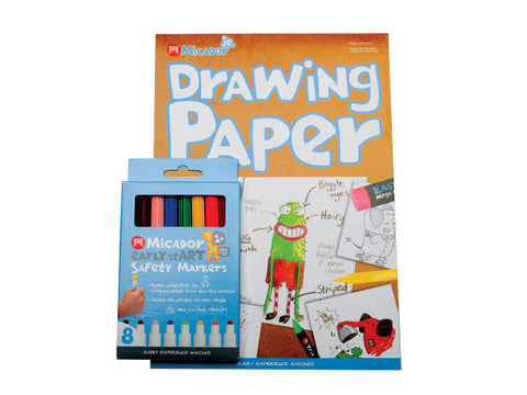 Micador Drawing Paper and Safety Markers